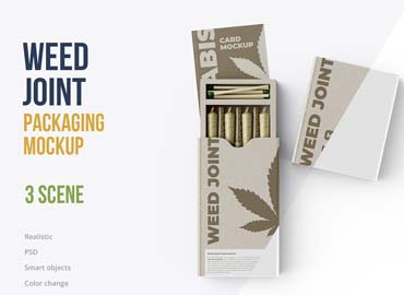 Weed Joint Packaging Mockup