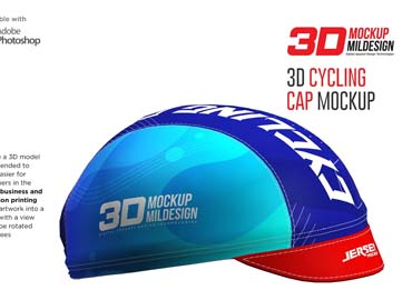 3D Cycling Cap Mockup