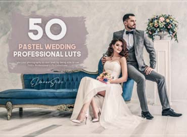 50 Pastel Wedding LUTs Pack