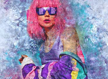 Grunge Ice Photoshop Action