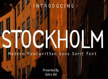 Stockhlom Modern Handwritten Sans Serif Font