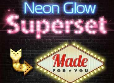 neon glow superset