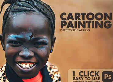 Cartoon Painting Photoshop Action