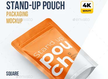 Stand Up Pouch Mockup Half Side view