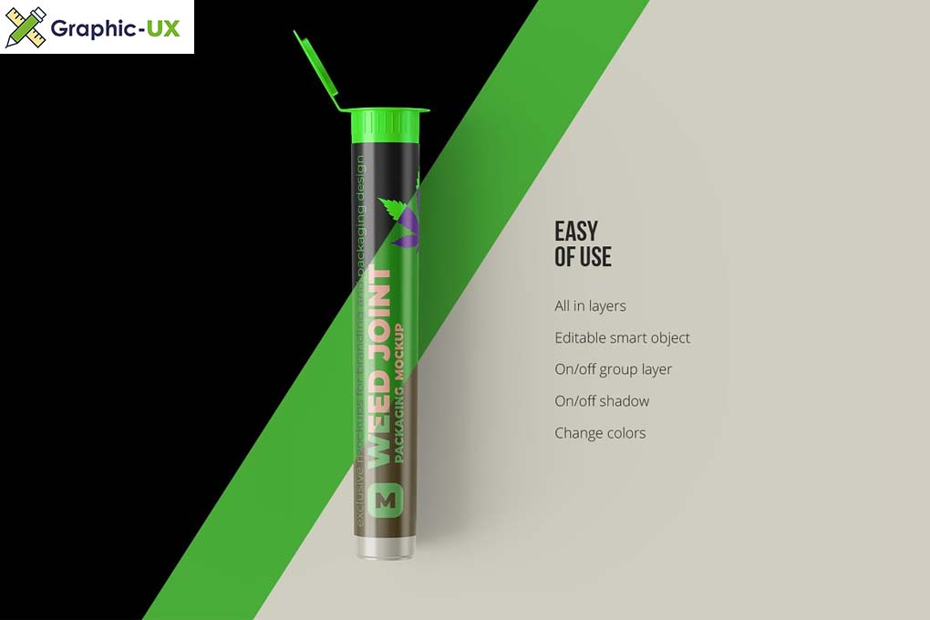 Weed Joint Pre Roll Plastic Tube