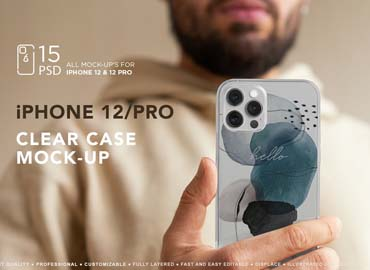 iPhone 12Pro Clear Case MockUp