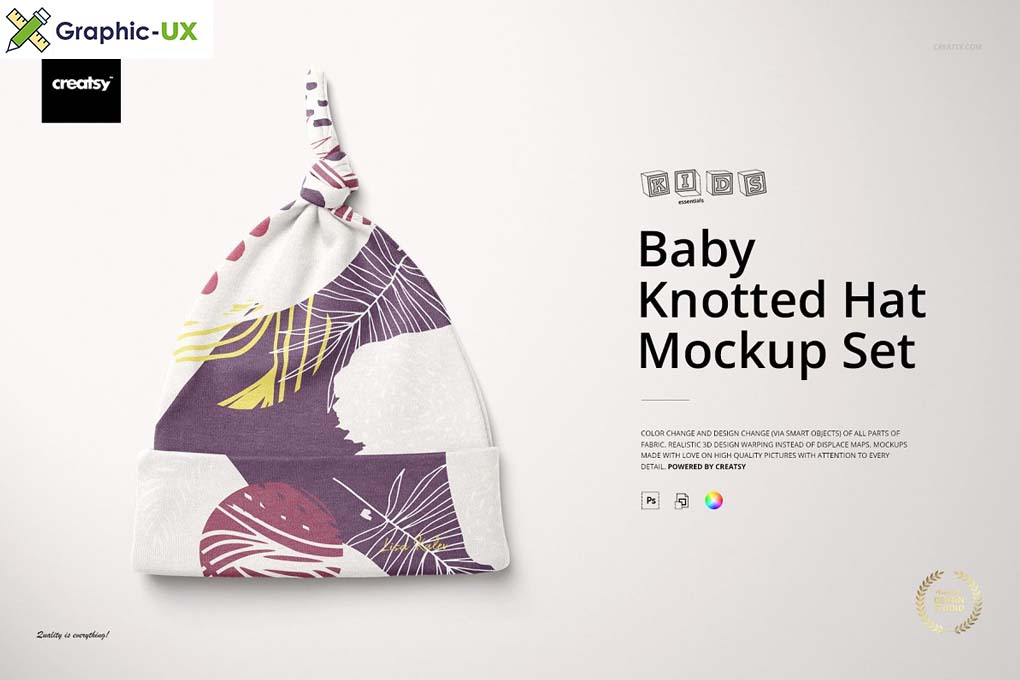 Baby Knotted Hat Mockup Set