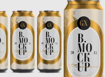 Beer Soda Can Mockup Larger