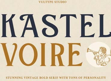 Kastel Voire Classic Display Font