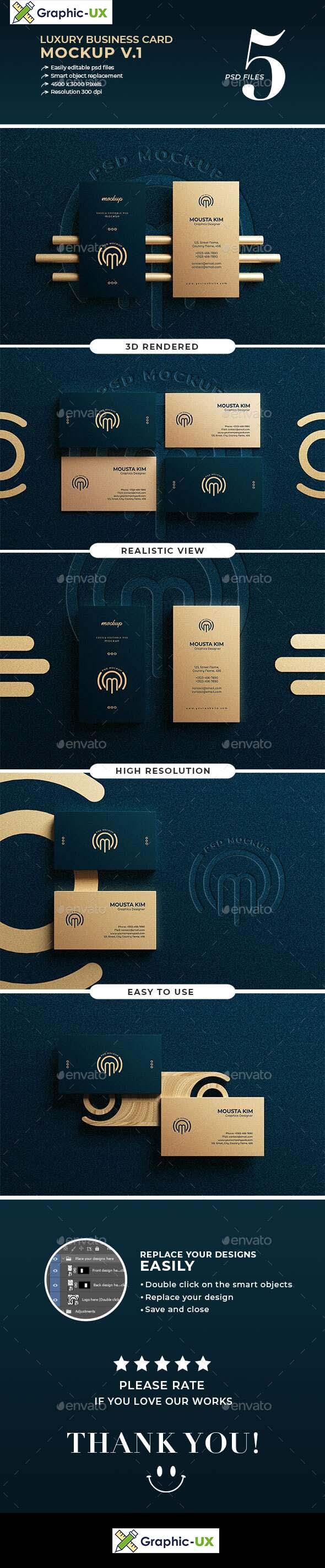 Luxury business card mockup v.1