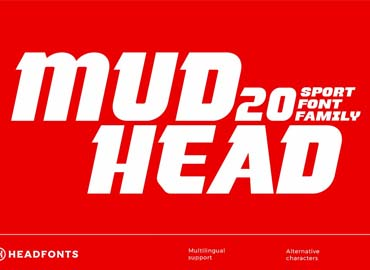 Mudhead Family Sports Display Font