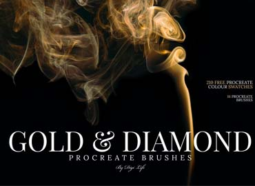 Gold & Diamonds Procreate Brushes