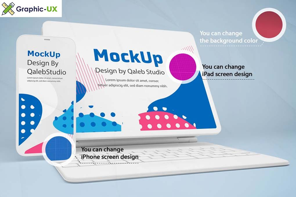 Clay iPhone 12 & iPad Mockup