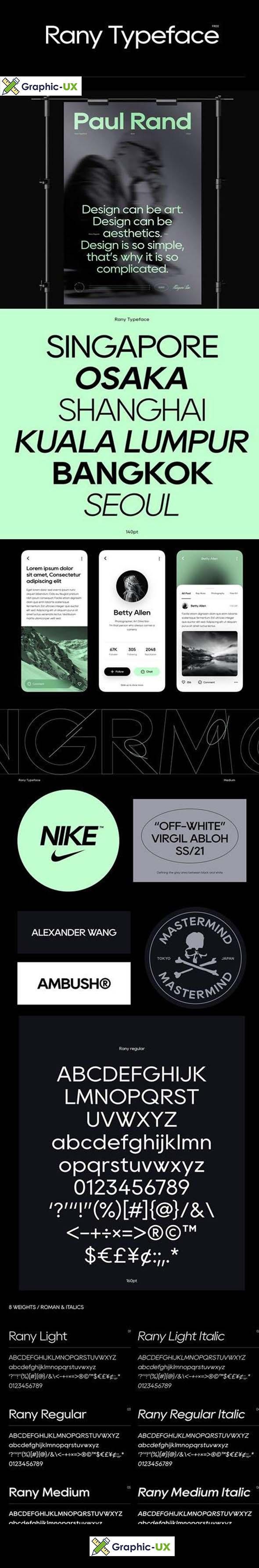 Rany Typeface