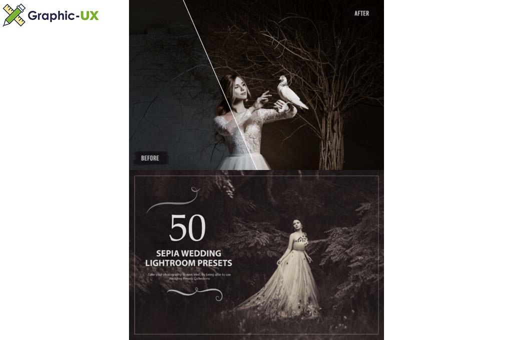 50 Sepia Wedding Lightroom Presets