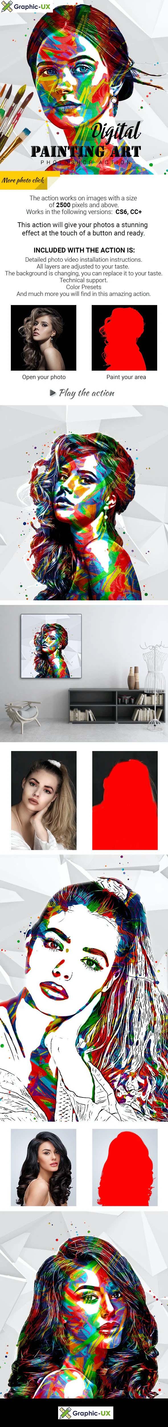 Digital Painting Art Photoshop Action