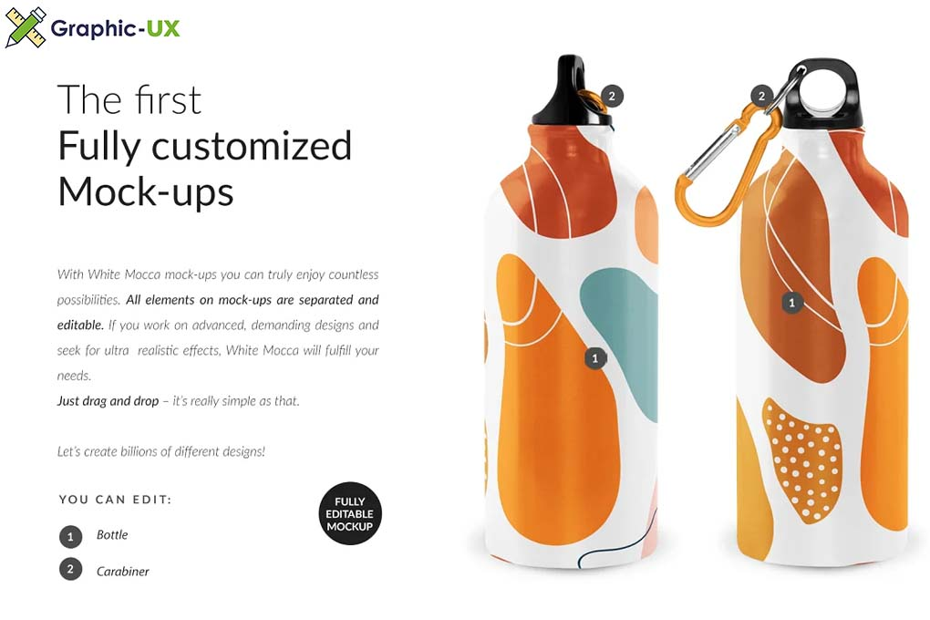 Water Bottle Professional Mock-ups