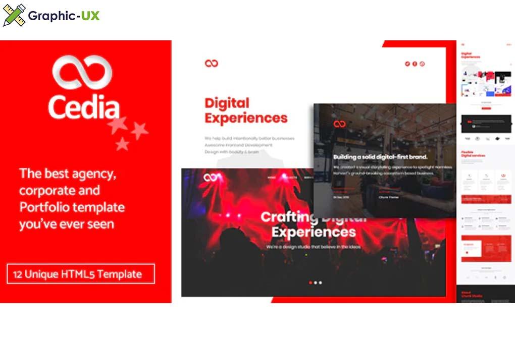 Cedia - Creative Agency, Corporate and Portfolio Multi-purpose Template