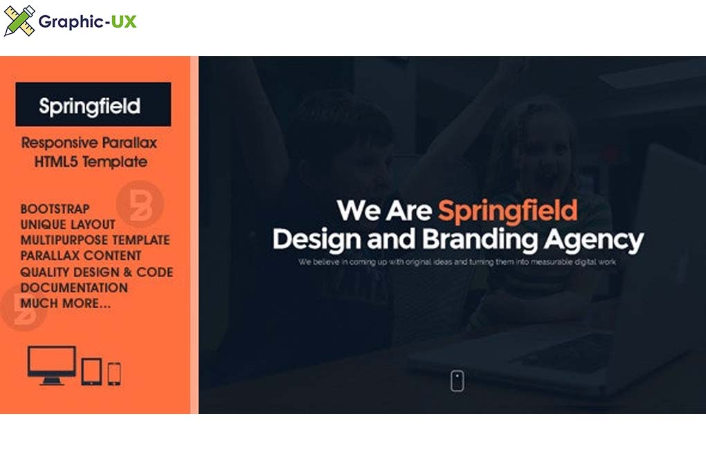 Springfield v2.1.2 – Responsive HTML5 Parallax Theme