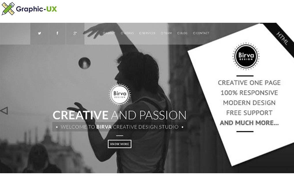 Birva Design v1.0 – Creative One Page Theme