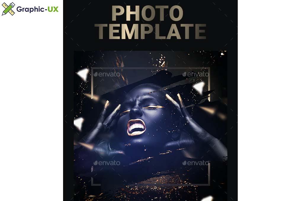 Golden Photo Template