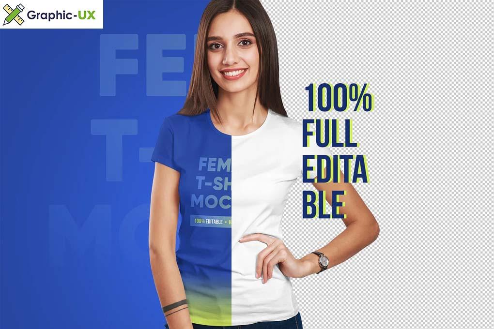 Female T-Shirt Mockups Vol 3 Part 1