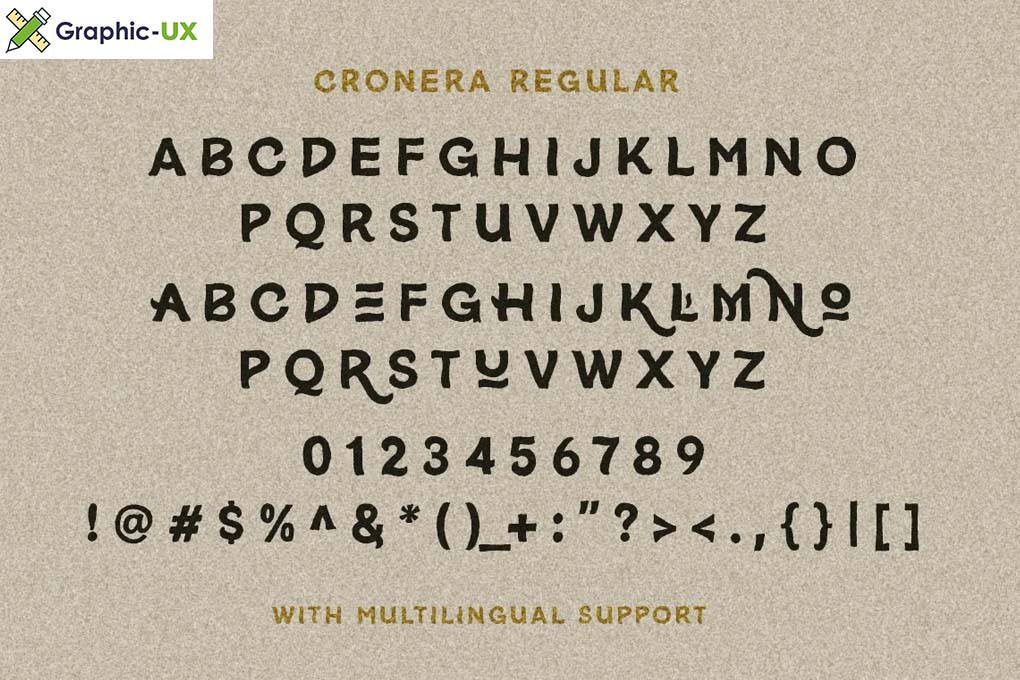 Cronera Handcrafted Typeface
