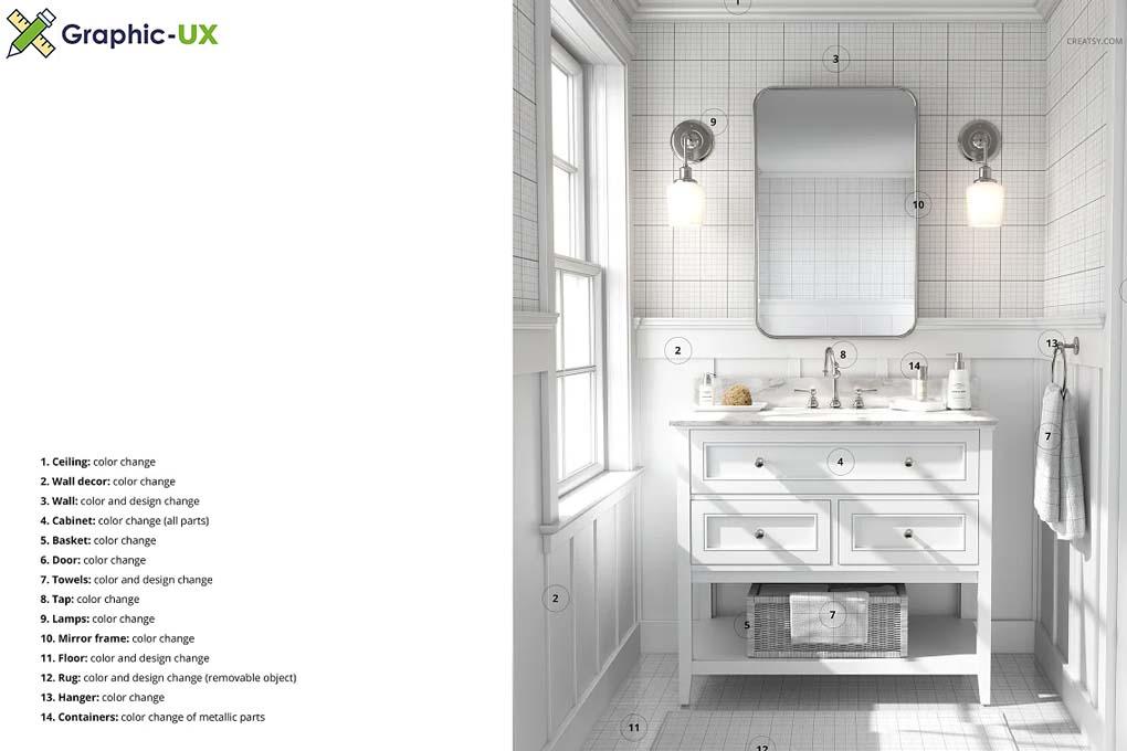 Bathroom Mockup (26FFv.10)