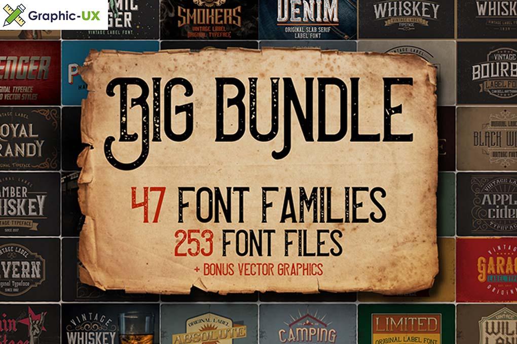 Big Vintage Fonts Bundle