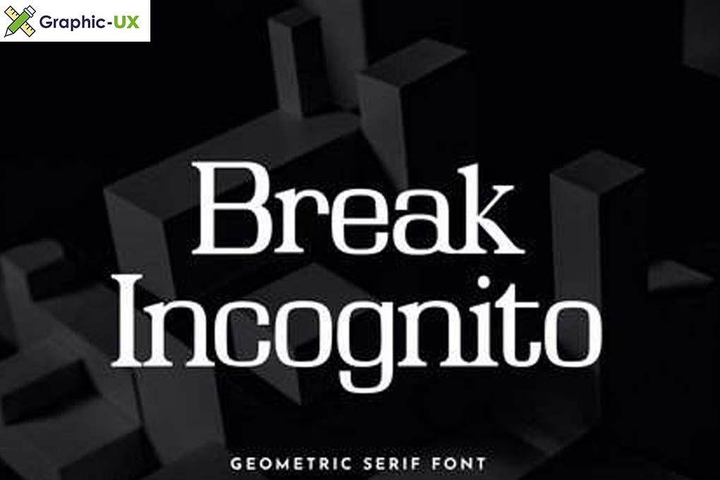 Break Incognito Serif Font