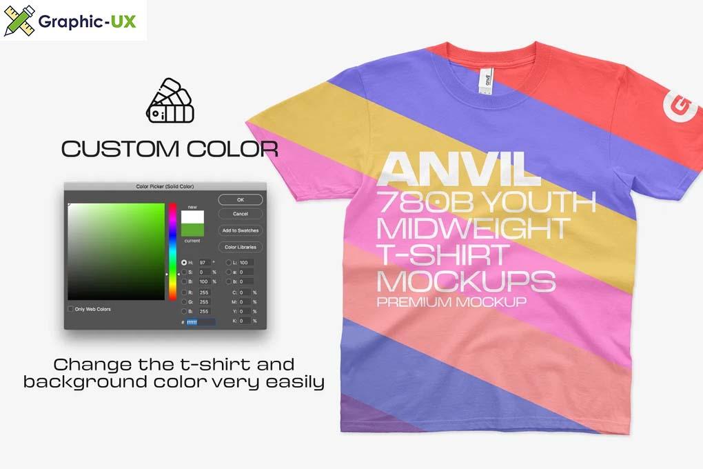 Anvil 780B Youth T-Shirt Mockups