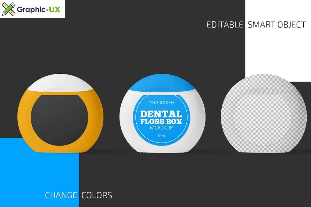 Dental Floss Box Mockup Set