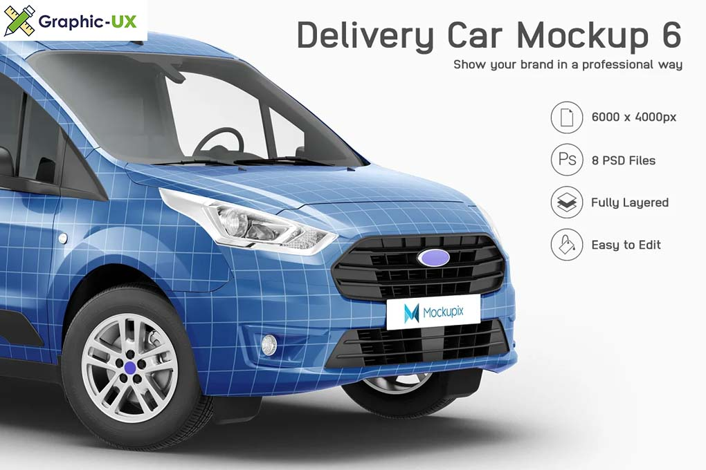 Delivery Car Mockup 8