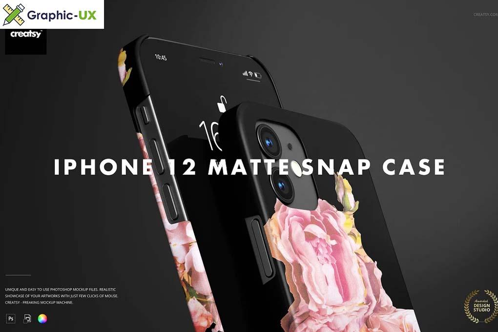 iPhone 12 Matte Snap Case 1 Mockup