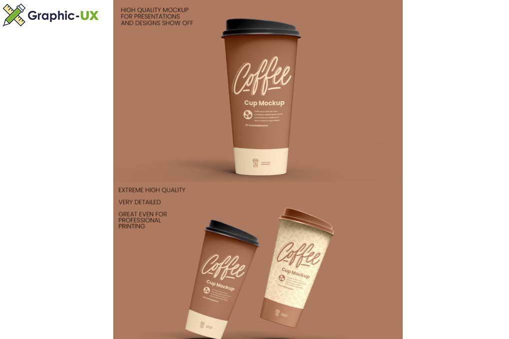 Coffee Cup Mockup 8 views