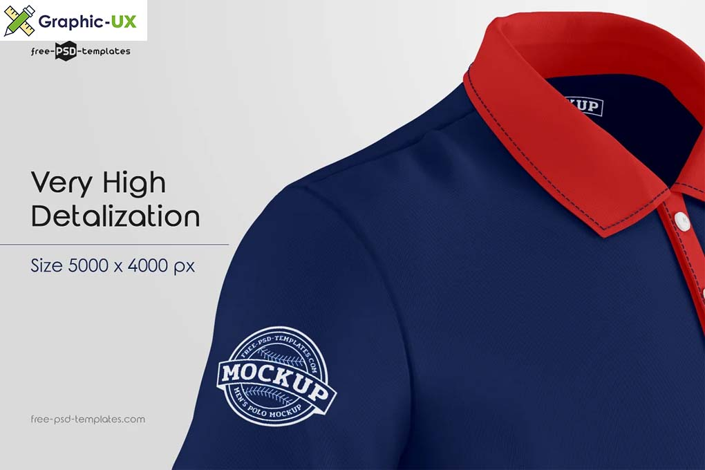 Men's Polo T-Shirts MockUp Set