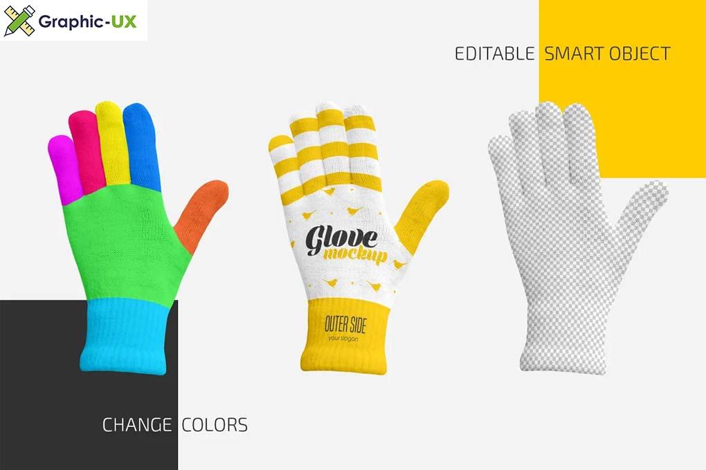 Winter Gloves Mockup Set