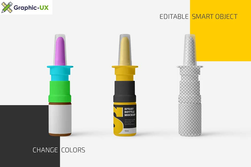Nasal Spray Bottle Mockup Set