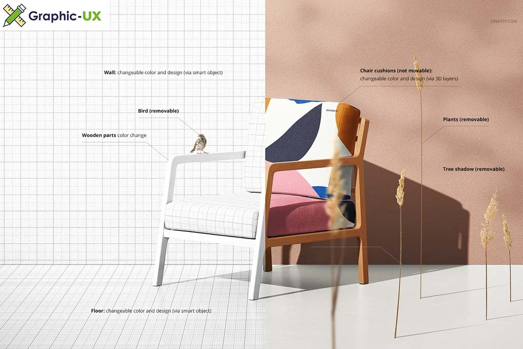 Lounge Chair Mockup Set (22FFv.10)