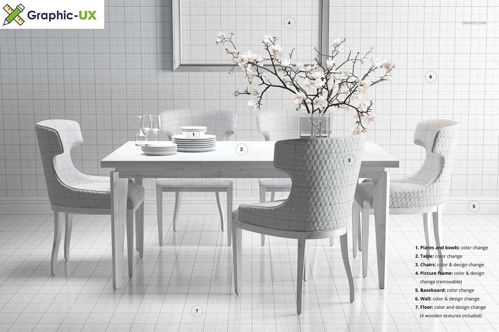Dining Room Chair Mockup Set