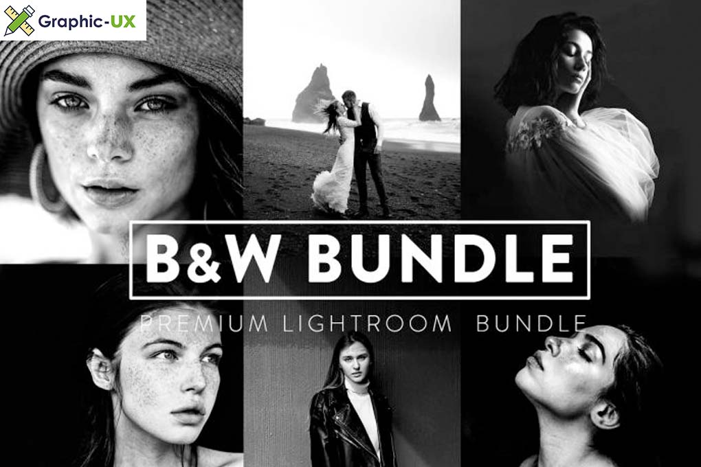 60 BLACK and WHITE Bundle Lightroom