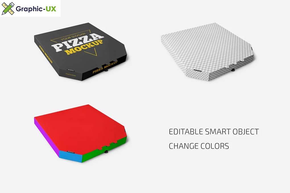 Pizza Box Mockup Set