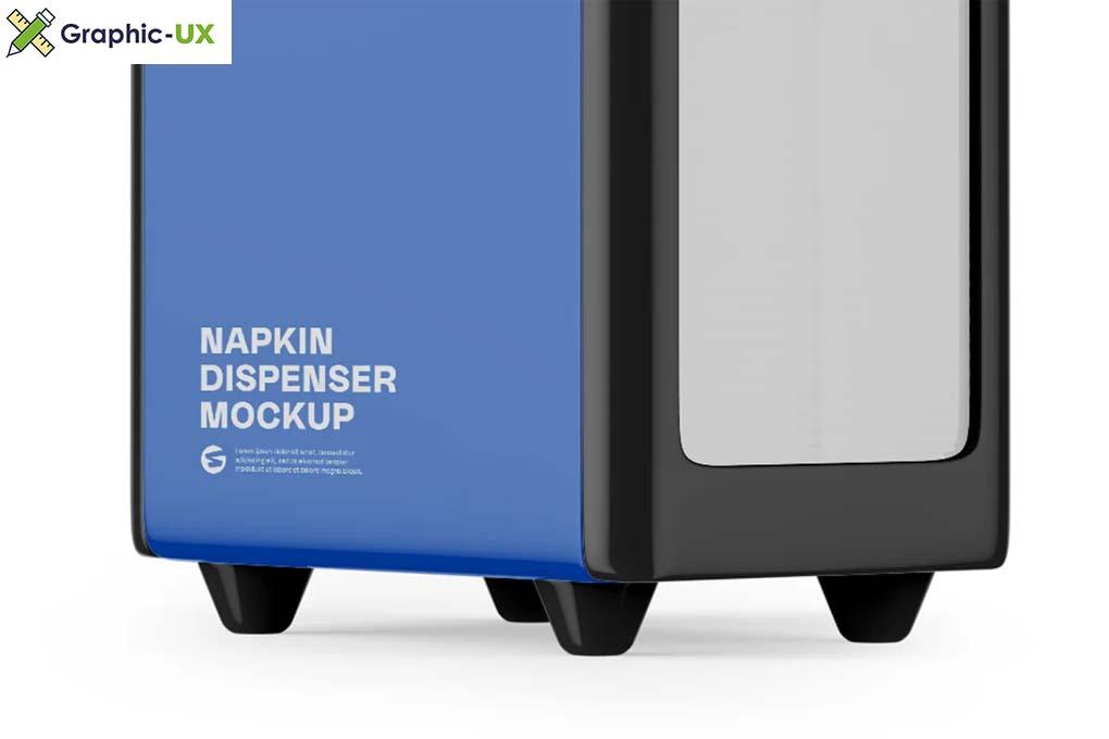 Napkin Dispenser Mockup Half Side
