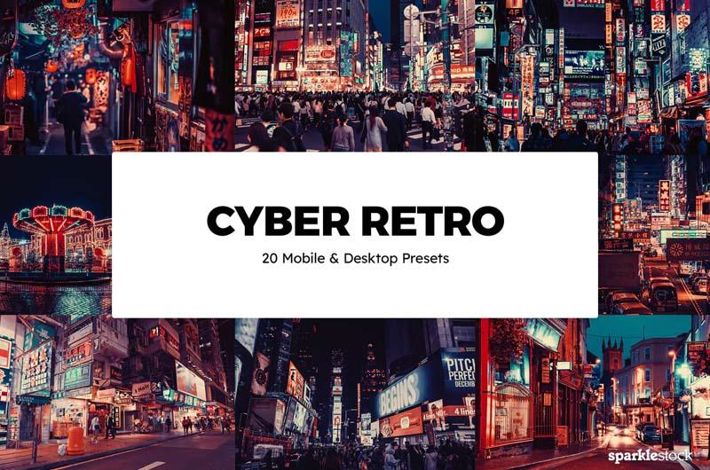 20 Cyber Retro Lightroom Presets