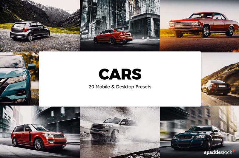 20 Cars Lightroom Presets & LUTs