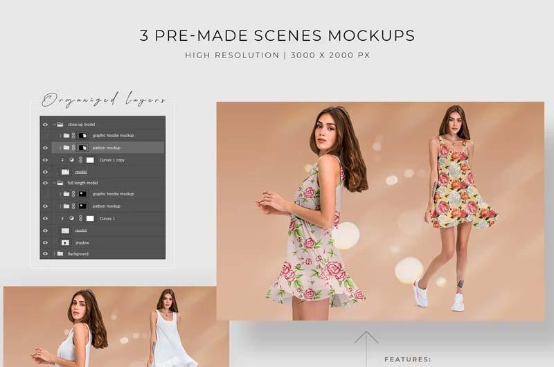 Dress Mockup Template Set
