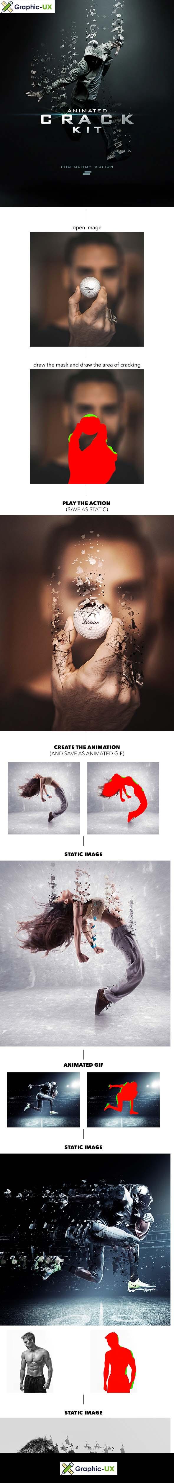 Gif Animated Crack Kit Photoshop Action